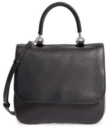 Max Mara Max Mara Top Handle Leather Satchel - Black