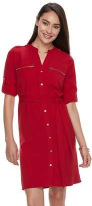 Women's Sharagano Zipper-Accent Shirtdress