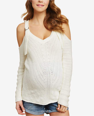 Jessica Simpson Maternity Cold-Shoulder Sweater