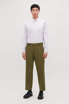 Cos CROPPED WOOL TROUSERS