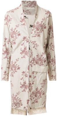 Aleksandr Manamis floral print straight fit coat
