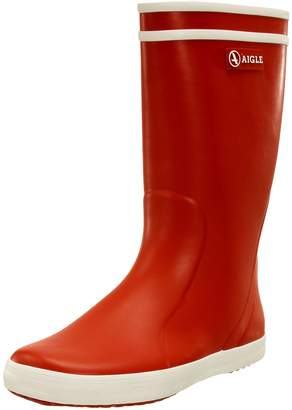 La Redoute Aigle Boys And Girls Lolly-Pop Rubber Wellington Boots Red