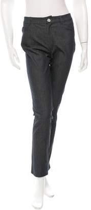 Oscar de la Renta Straight-Leg Mid-Rise Jeans w/ Tags
