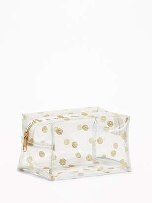 Old Navy Clear Printed Cosmetic Bag for Women