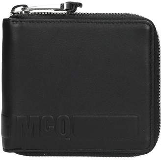 McQ Black Leather Wallet