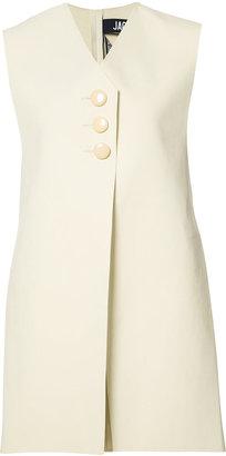 Jacquemus asymmetric waistcoat $580 thestylecure.com