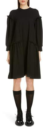 Simone Rocha Side Frill Long Sleeve Jersey Dress