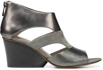 Donald J Pliner JENKIN, Kid Suede and Leather Wedge Sandal