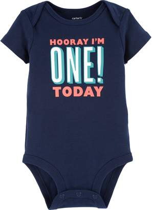 """Carter's Baby Boy Hooray I'm One! Today"""" Graphic Tee"""