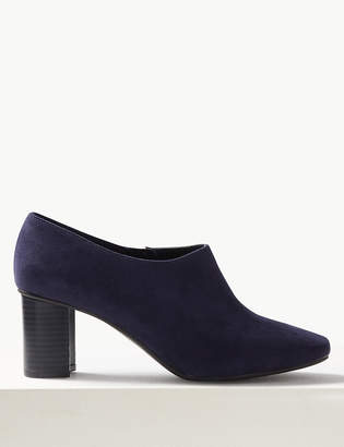Marks and Spencer Wide Fit Block Heel Shoe Boots