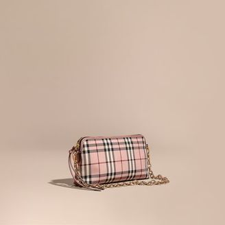 Burberry Overdyed Horseferry Check and Leather Clutch Bag $1,095 thestylecure.com
