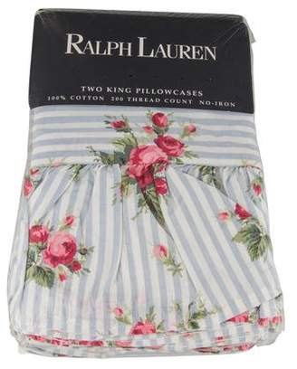 Ralph Lauren Pair of Emma Floral King Pillowcases