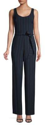 Karl Lagerfeld Paris Striped Tie-Waist Jumpsuit