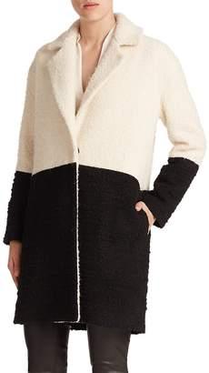 Alice + Olivia Women's Shyla Two-Tone Wool Coat