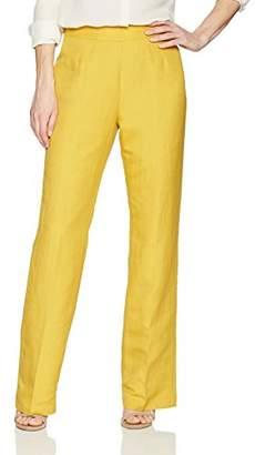 Kasper Women's Solid Linen Pant