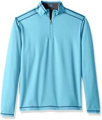Cutter & Buck Men's 50+ UPF Stretch Evergreen Reversible Snap Placket Pullover