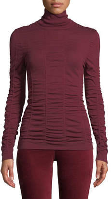 Nic+Zoe Turtleneck Long-Sleeve Scrunched-Up Top, Plus Size
