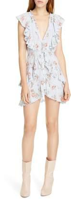 LoveShackFancy India Floral Lace & Ruffle Detail Cotton Minidress
