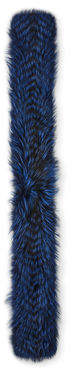 Gorski Silver Fox Fur Feathered Boa