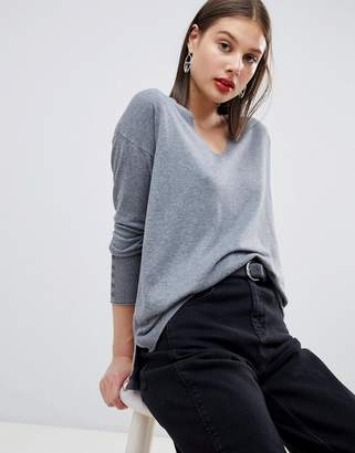 Esprit Lightweight Knitted Oversized V Neck Sweater