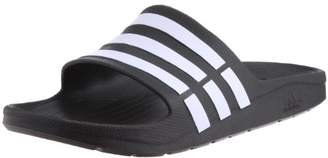 adidas Duramo Slide, Unisex Toe Sandals, Black (Black/White/Black), 5 UK (38 EU)