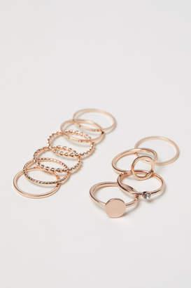 H&M 10-pack Rings - Orange