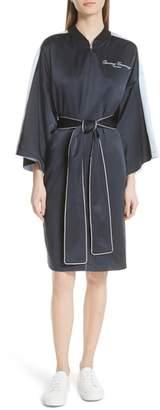Opening Ceremony Reversible Silk Kimono Robe