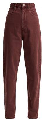 Isabel Marant Ãtoile Atoile - Forsy High Rise Boyfriend Jeans - Womens - Burgundy
