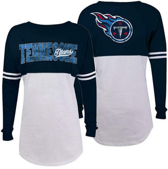 5th & Ocean Women Tennessee Titans Sweeper Long Sleeve T-Shirt
