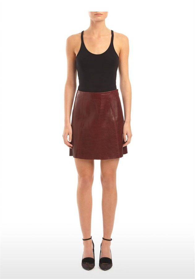Alexander Wang Leather A-Line Mini Skirt