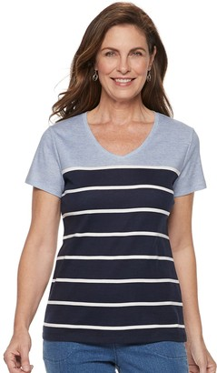 Croft & Barrow Women's Essential V-Neck Tee