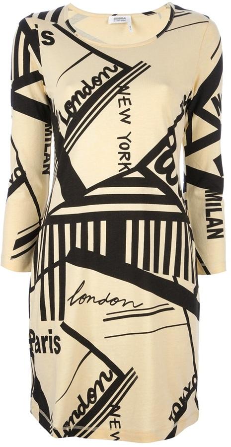 Sonia Rykiel Sonia By graphic print dress
