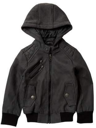 Urban Republic Faux Leather Jacket (Toddler & Little Boys)