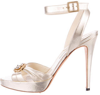 Brian Atwood Embellished Platform Sandals $130 thestylecure.com