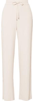 Theory - Jolinta Stretch-crepe Wide-leg Pants - Ivory $355 thestylecure.com