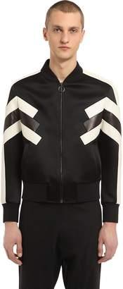 Neil Barrett Patchwork Nylon & Leather Jacket