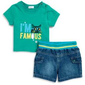 Absorba Baby Boy's Adorable Tee and Shorts Set
