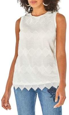 Dorothy Perkins Chevron Lace Sleeveless Top