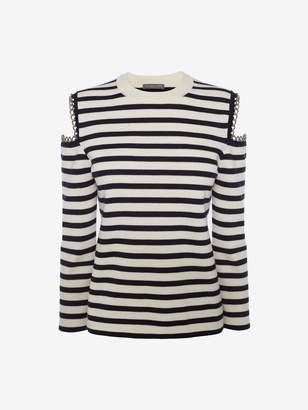 Alexander McQueen Chain Stripe Knit Sweater