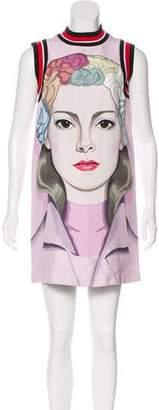 Prada Face Print Shift Dress