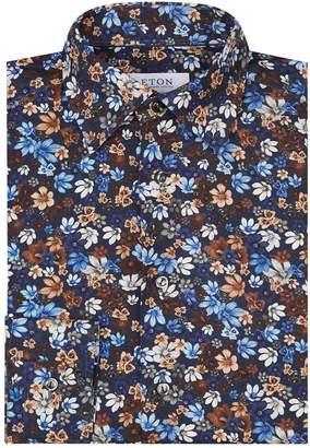 Eton Cotton Dark Florals Shirt