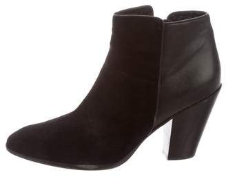 Barneys New York Barney's New York Suede Semi Pointed-Toe Booties