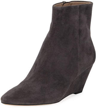 Donald J Pliner Jae Low Wedge Suede Booties
