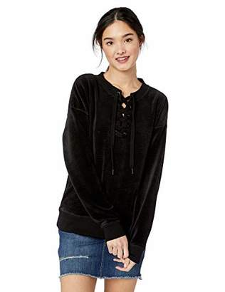 Roxy Junior's Lucky Sunshine Velour Ribbed Sweatshirt, M