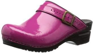Sanita Womens Freya open Clogs Pink Pink (Fuchsia 79) Size: 6.5