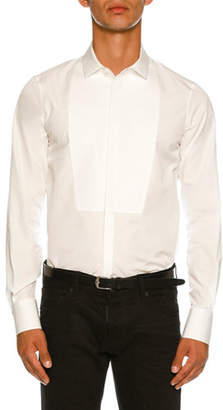 DSQUARED2 Round-Bib Slim-Fit Tuxedo Shirt