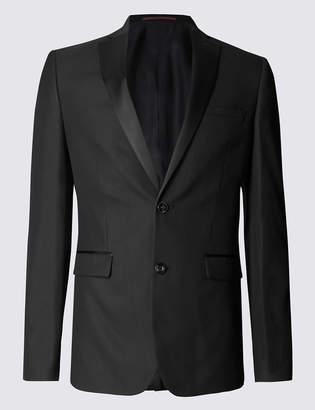 Limited Edition Black Textured Modern Slim Fit Jacket