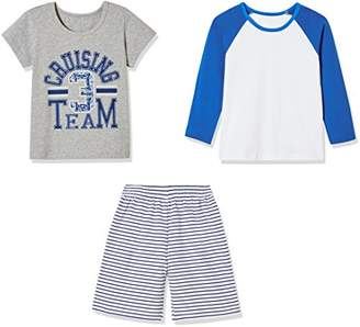 Sprout Star Curising Team T-Shirts and Stripe Shorts 2Pcs Cotton Set-8