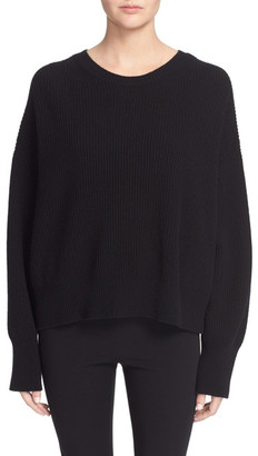 Helmut Lang Open Back Wool & Cashmere Sweater $395 thestylecure.com