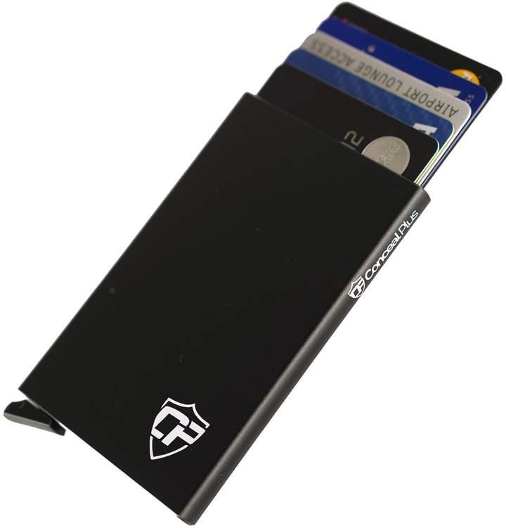 Conceal Plus Card Blocr Best Minimalist Wallet | RFID Blocking Aluminum Credit Card Holder for Identity Theft Protection | Front Pocket Wallet Design Fits 4-6 Bank Cards | Slim Wallet Credit Card Case in 7 Colors